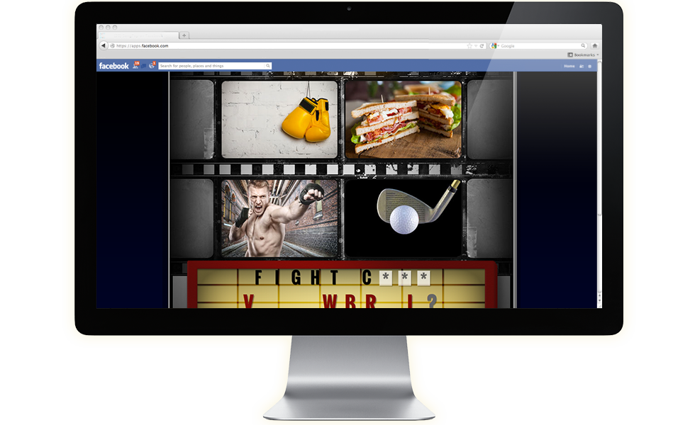 Play 4 Pics 1 Movie Game on Facebook from your computer